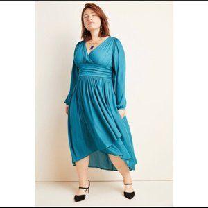 ANTHROPOLOGIE Gwendolyn Turquoise Maxi Dress 20W